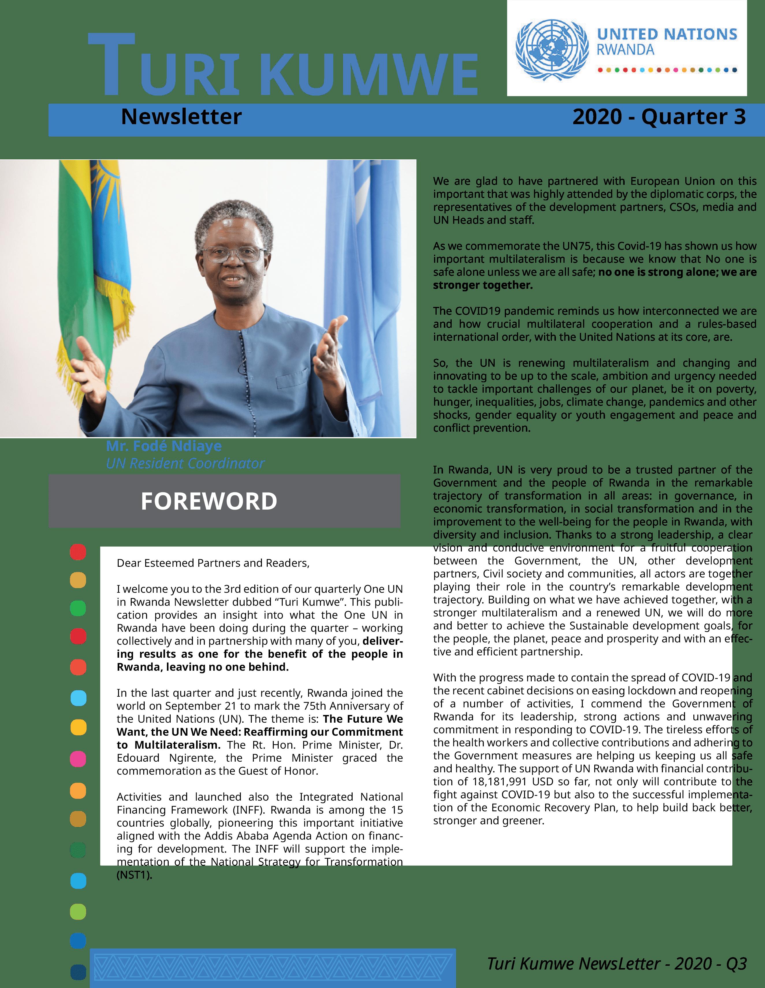 One UN Turi Kumwe Newsletter Quarter 3