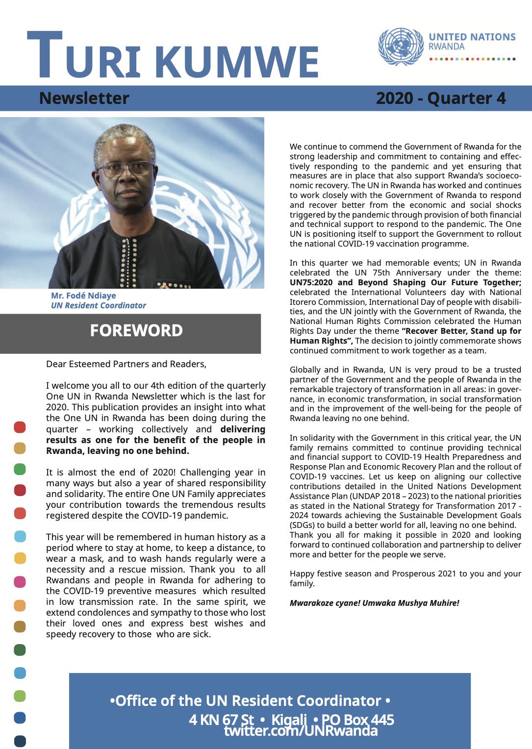 One UN Turi Kumwe Newsletter Quarter 4